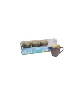 Burslem Two Tone 4 Pack Of Mugs