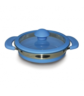 Folding Saucepan Blue 1 Litre