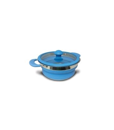 Folding Saucepan Blue 2 Litre
