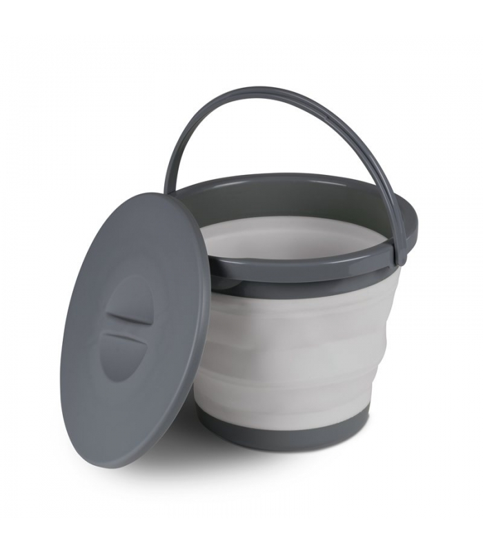 COLLAPSIBLE FOLDING SILICON BUCKET WITH HANDLE caravan camping motorhome boat