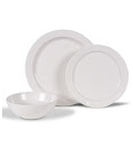 Kampa Classic White Non-Slip 12 Piece Dinner Set
