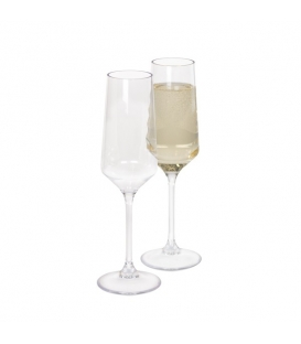 Kampa Prosecco Flute  Glass Pack of 2