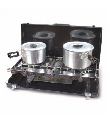 Foldaway Double Gas Hob & Grill