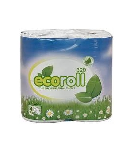 Eco Roll Quick Dissolve Toilet Tissue 4 Pk