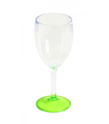 Acrylic Wine Glass  Lime