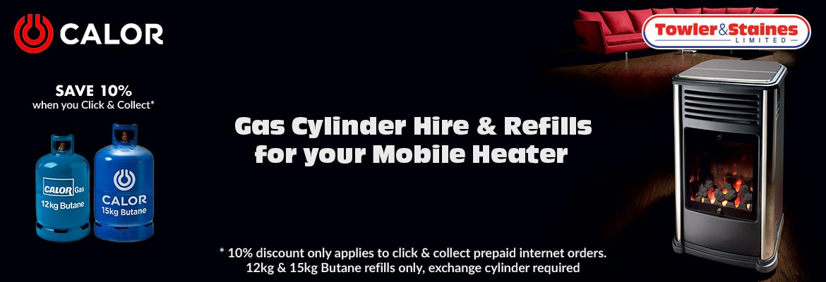 Gas Cylinder Hire & Refills for your Mobile Heater - Order for delivery or click and collect in our Keighley or Bradford showrooms