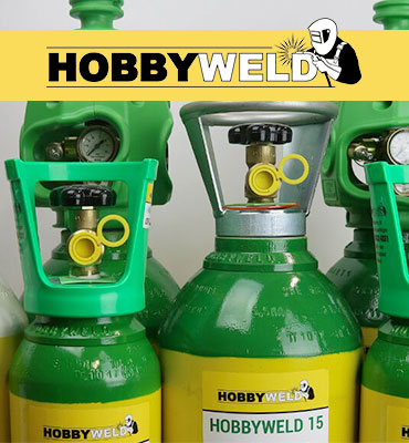Rent free gas cylinders by Hobbyweld